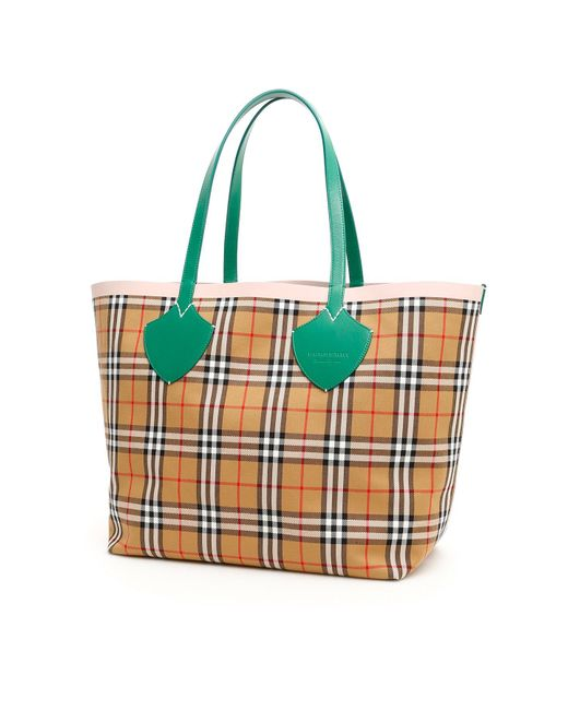 Burberry Multicolor The Giant Reversible Tote Bag