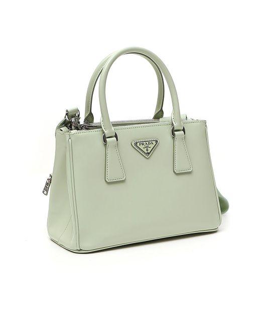 Prada Green Galleria Mini Tote Bag