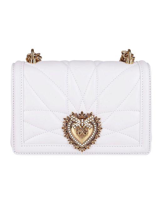 Dolce & Gabbana White Devotion Small Crossbody Bag