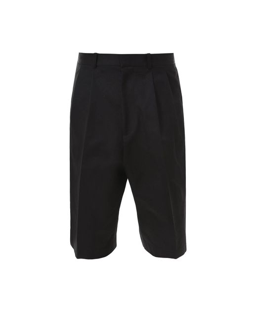 Alexander McQueen Black Cotton Bermuda Shorts for men