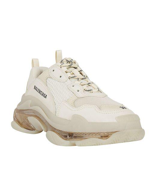 Balenciaga White Triple S Sneakers