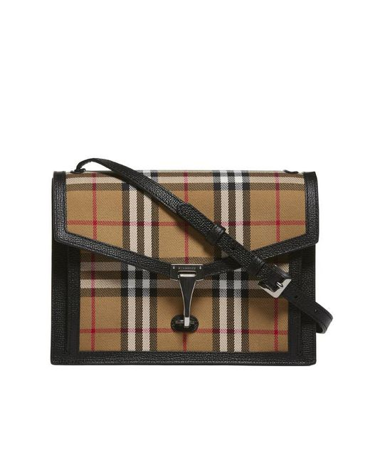 Burberry - Multicolor Check Print Shoulder Bag - Lyst