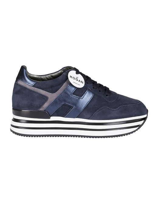 Hogan Blue Platform Sneakers