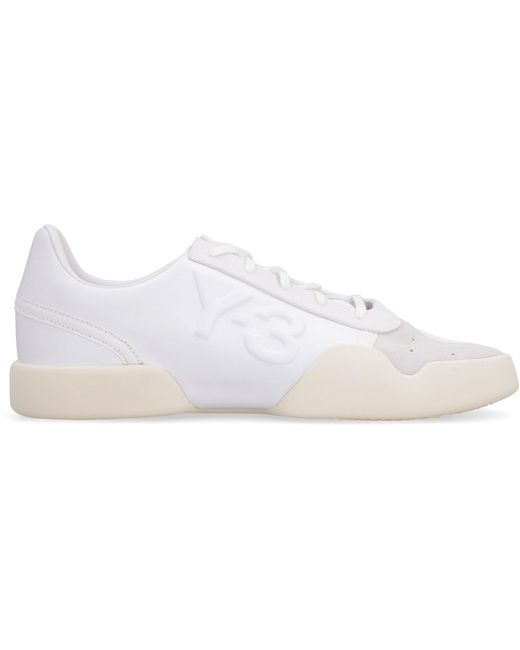 Y-3 White Yunno Lace-up Sneakers for men