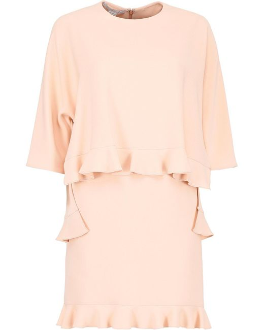Stella McCartney - Pink Ruffled Trim Layered Dress - Lyst
