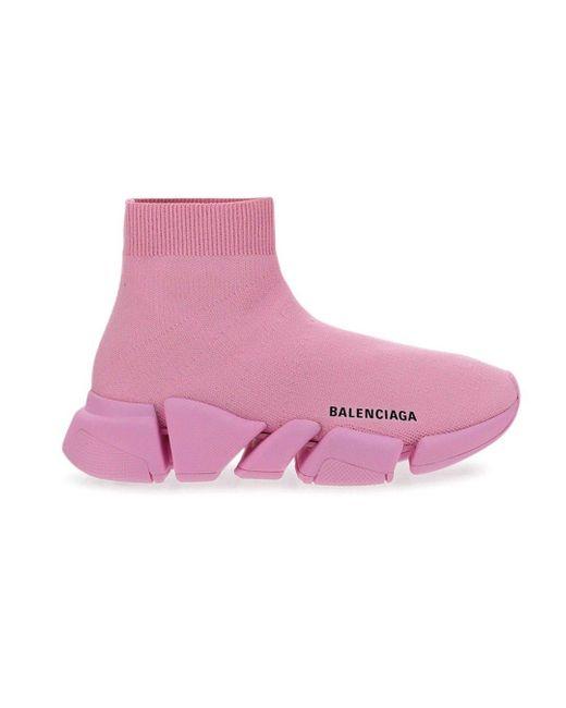 Balenciaga Pink Speed 2.0 Sneakers