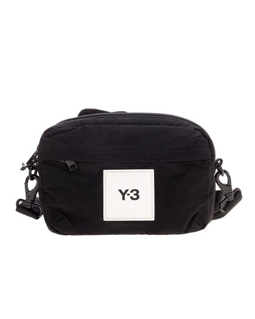 Y-3 Black Logo Patch Sling Belt Bag