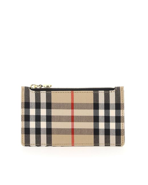 Burberry Multicolor Checked Zipped Cardholder