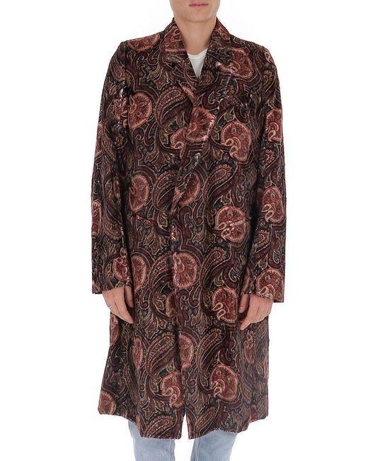 Ann Demeulemeester Multicolor Paisley Printed Clutch Coat for men