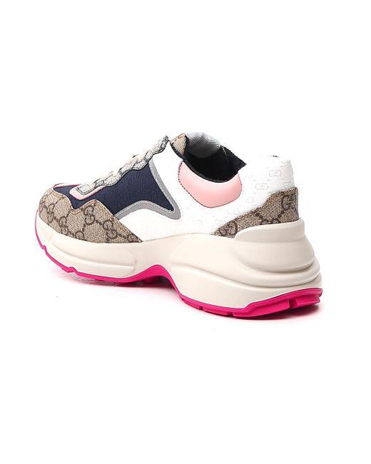 Gucci Blue Rhyton Sneakers