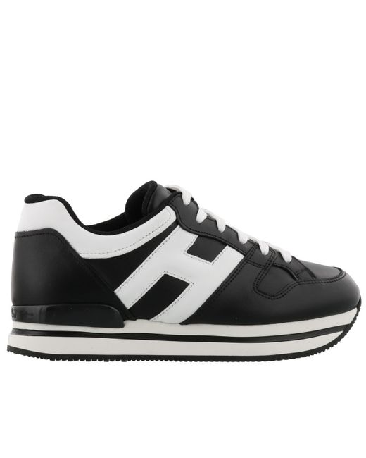 Hogan Black H222 Leather Sneakers