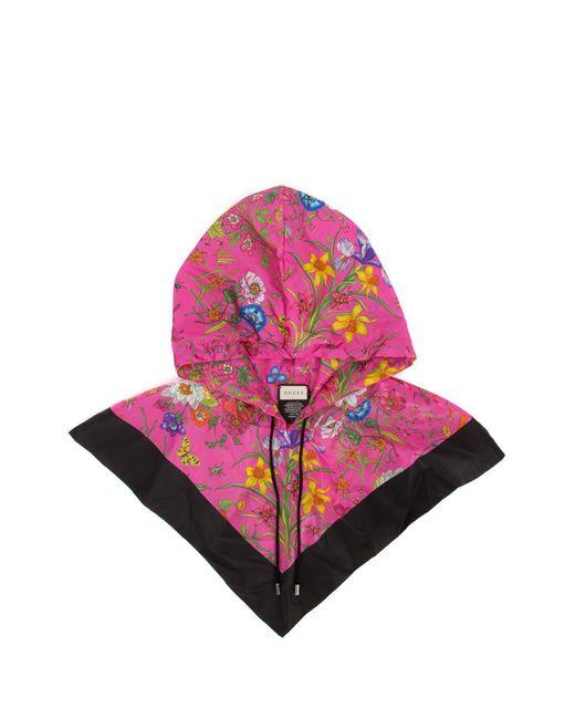 Gucci Pink Floral Print Hood