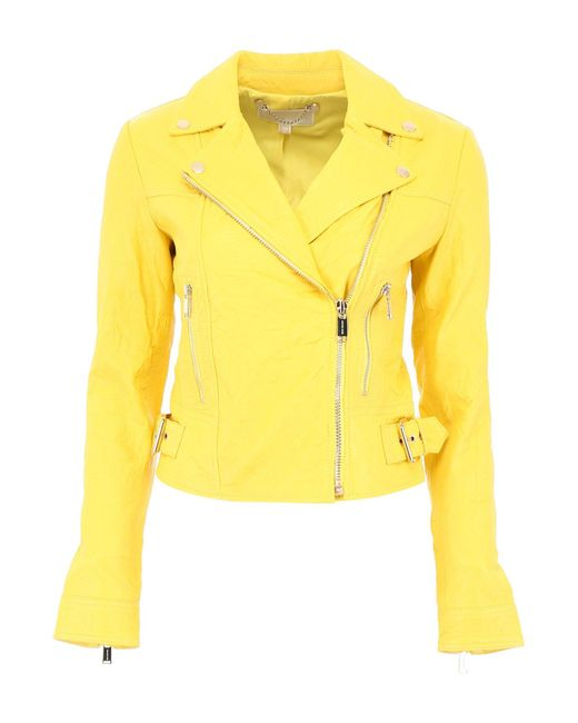 MICHAEL Michael Kors - Yellow Biker Jacket - Lyst