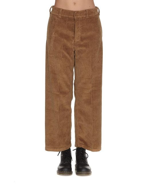 Department 5 - Brown Classic Flared Pants - Lyst