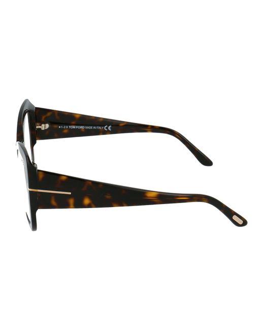 Tom Ford Brown Oversized Cat-eye Frames
