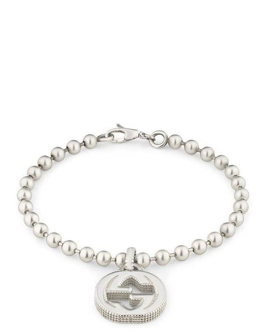 Gucci - Metallic Interlocking G Bracelet - Lyst