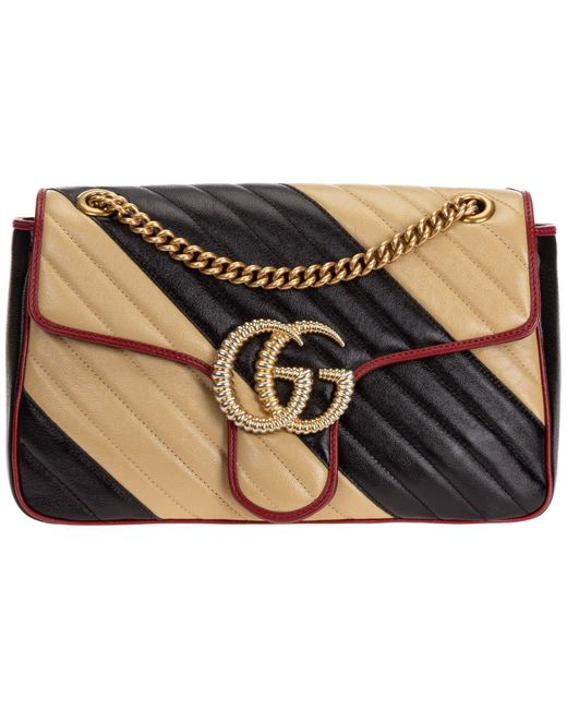 Gucci Multicolor GG Marmont Small Matelassé Shoulder Bag