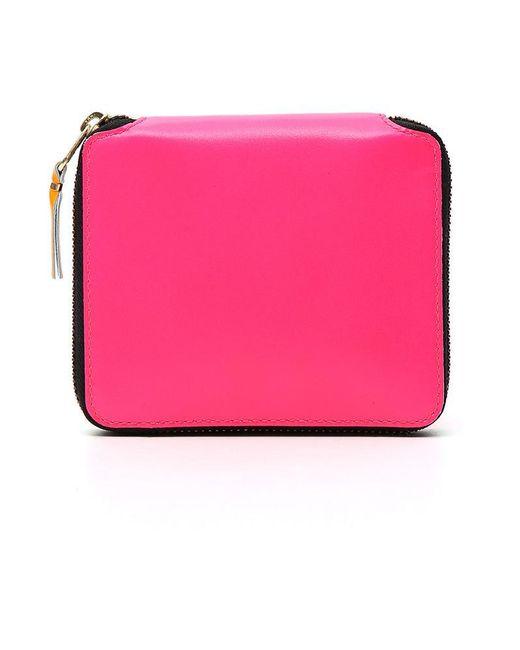 Comme des Garçons - Pink Leather Wallet - Lyst
