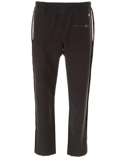 Off-White c/o Virgil Abloh - Black Champion Sweatpants for Men - Lyst