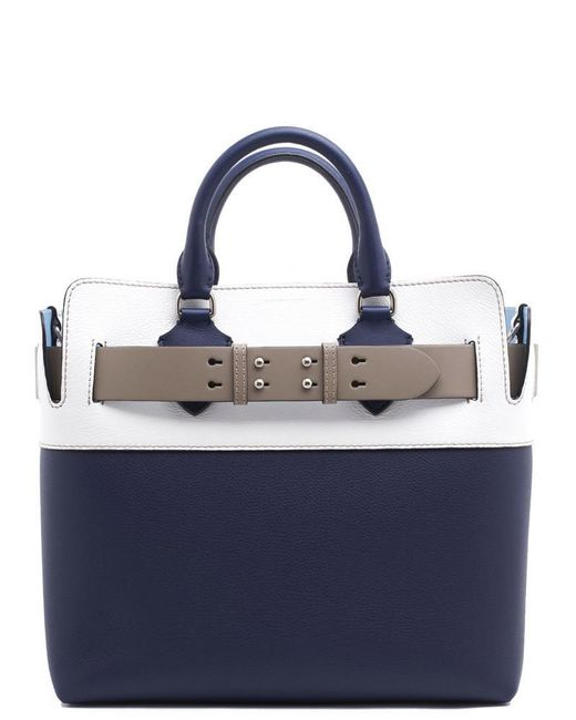 fcff1c3f4560 Lyst - Burberry The Medium Tri-tone Belt Bag in Blue