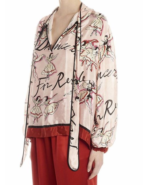 F.R.S For Restless Sleepers Multicolor Tie-neck Blouse