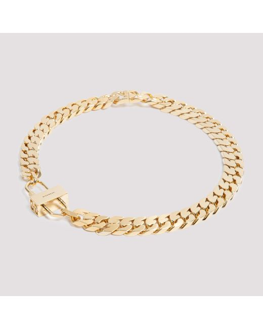 Givenchy Metallic Wide-link G Chain Necklace Unica