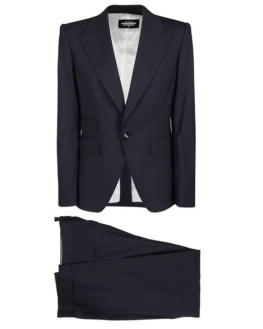 DSquared² Black Single Breasted Formal Two Piece Suit