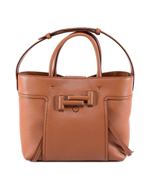 Tod's - Brown Double T Tote Bag - Lyst