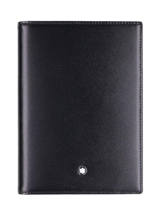 Montblanc Black Logo Passport Holder for men