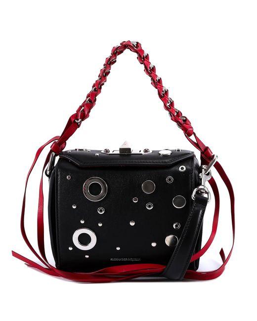 Alexander McQueen Black Braided Chain Shoulder Bag