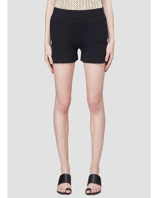 Helmut Lang Black Cozy Knit Shorts