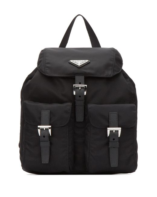 Prada Black Small Backpack In Vela Fabric