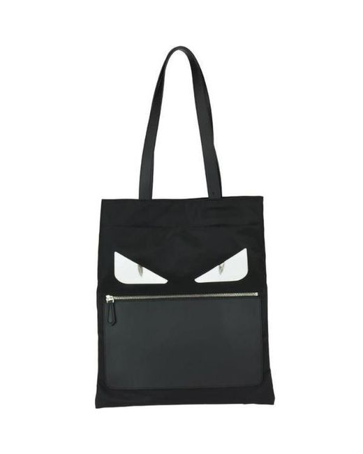 6a382ffceb Lyst - Fendi Bag Bugs Slim Tote Bag in Black