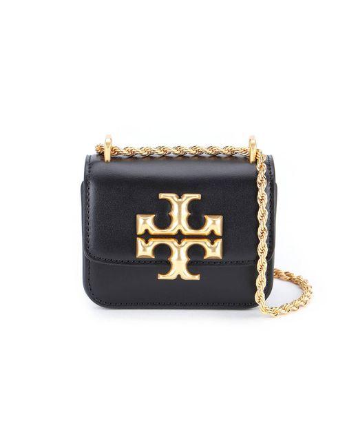 Tory Burch Black Eleanor Mini Shoulder Bag In Leather