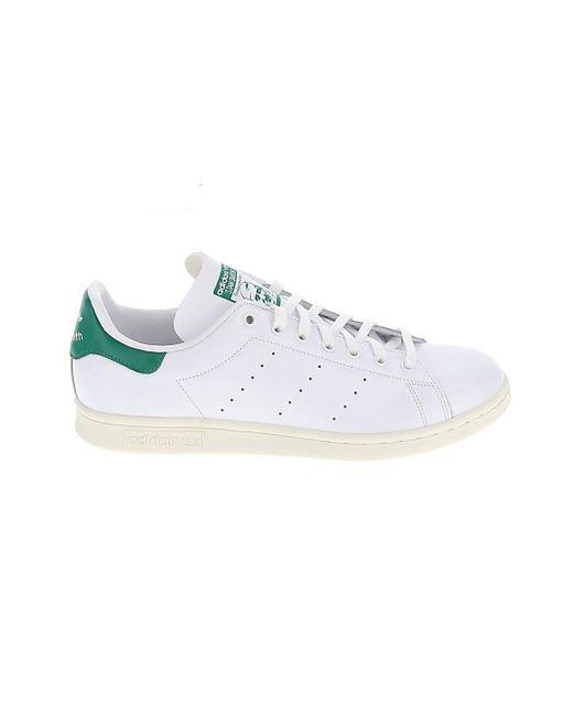 Adidas Originals White Stan Smith Sneakers for men