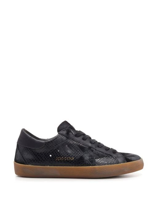 Golden Goose Deluxe Brand Black Superstar Distressed Sneakers for men