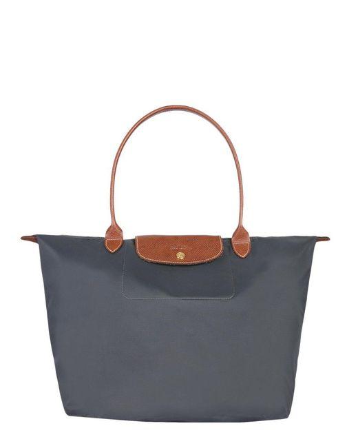 Longchamp - Gray Le Pliage Shopper Bag - Lyst