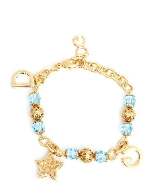 Dolce & Gabbana - Metallic Charm Bracelet - Lyst