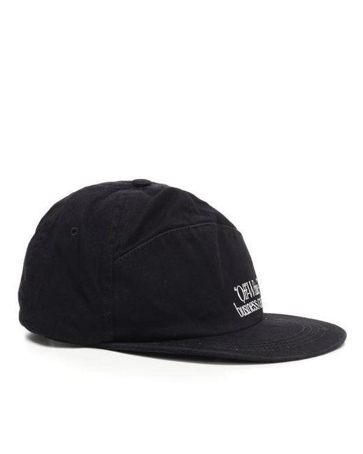 Off-White C O Virgil Abloh Snapback Cap in Black for Men - Lyst 8ab2b7d95a1