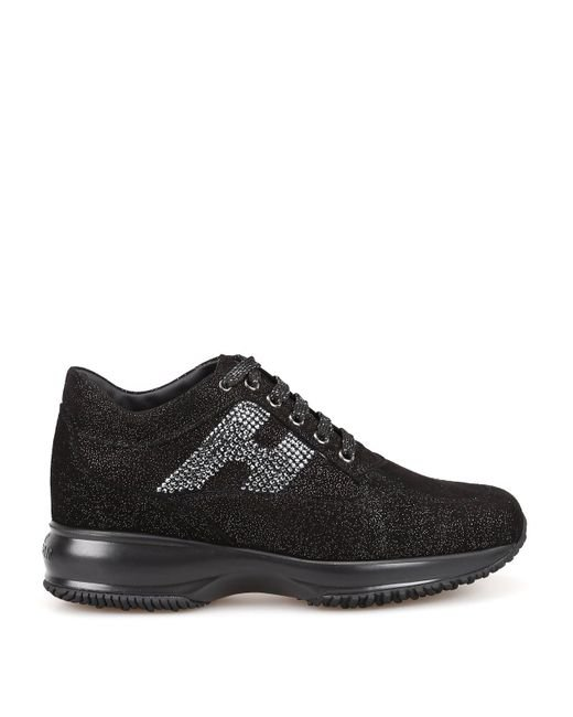 Hogan Leather Interactive Sneakers in Black - Save 40% - Lyst