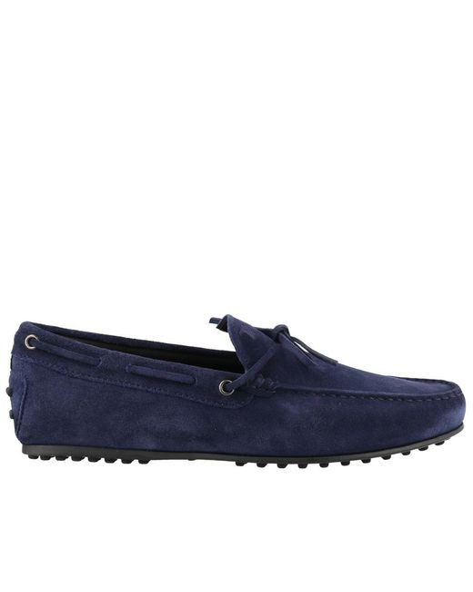 Tod's Blue Gommino Driving Loafers for men