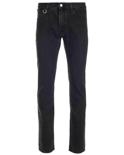 Raf Simons Black Monogram Patch Straight-leg Jeans for men