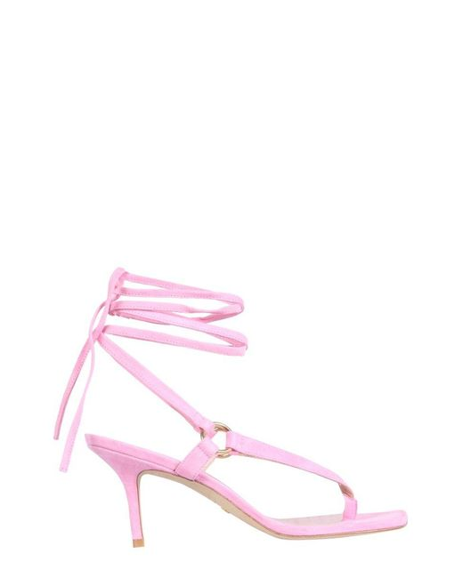 Stuart Weitzman Pink Lalita Sandals