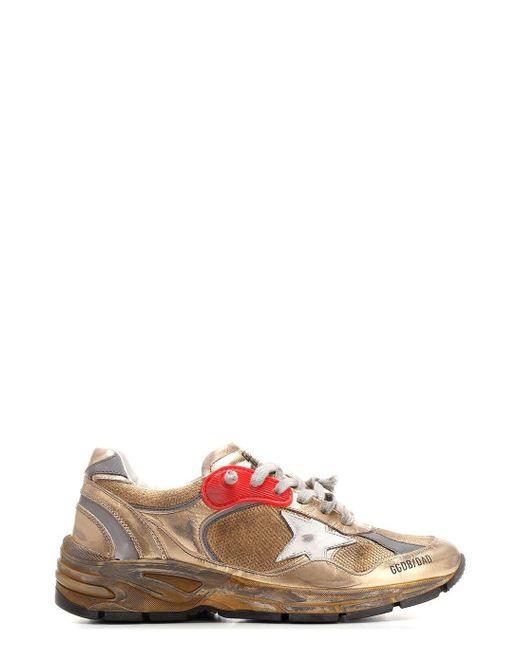 Golden Goose Deluxe Brand Metallic Dad-star Sneakers for men