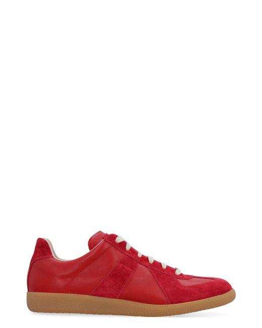 Maison Margiela Red Replica Low-top Sneakers for men