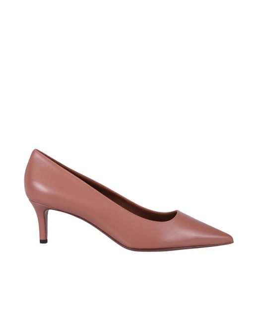 L'Autre Chose Pink Pointed-toe Kitten Heel Pumps