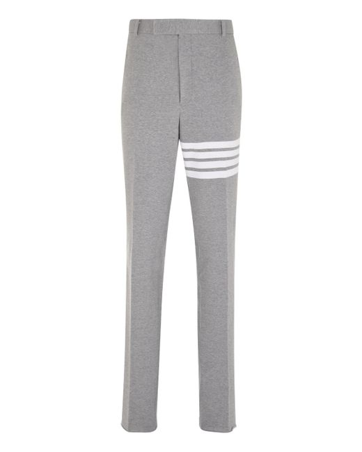 Thom Browne Gray Cotton Chino Trousers for men