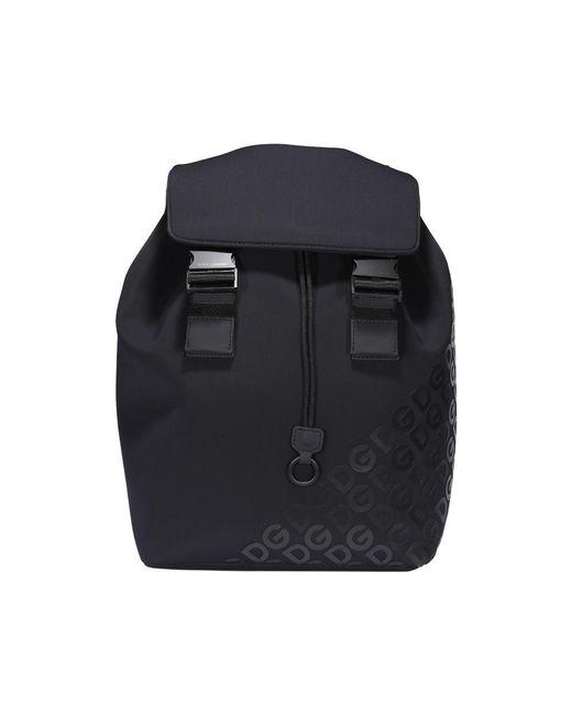 Dolce & Gabbana Black Millennials Logo Backpack for men