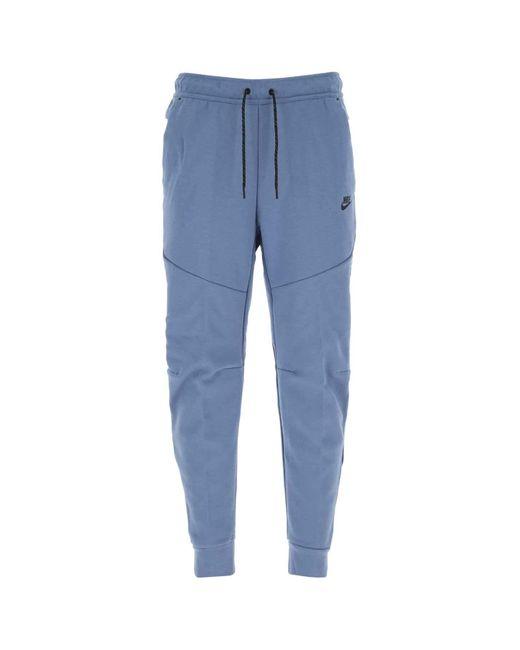Nike Blue Tech Fleece Jogging Pants for men