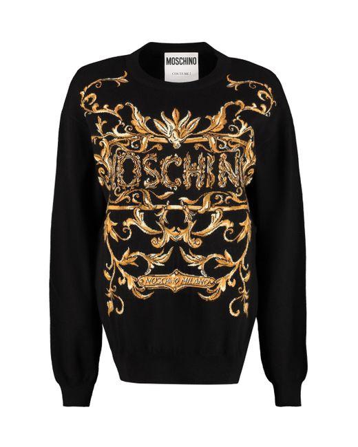 Moschino Black Logo Graphic Printed Sweatshirt